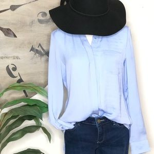 Apt 9 button up blouse. Blue. Size Medium. Peplum.